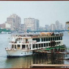 Pleasure boat postcard