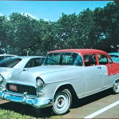 Old Chevrolet Bel Air (1955) Postcard