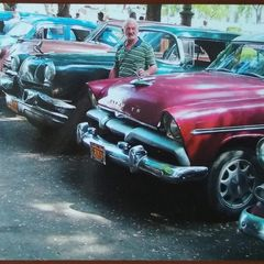 Old cars in Havanna - Postcard