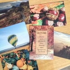 Autumn - 6 pcs Postcards Bundle