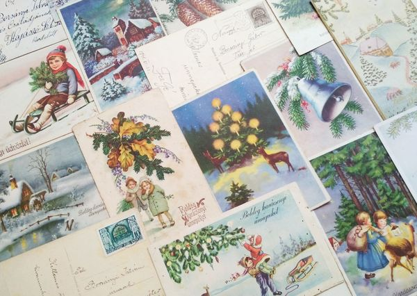 Vintage christmas postcards cm123c