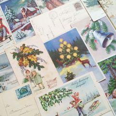 Vintage Weihnachtskarten - Postkarte