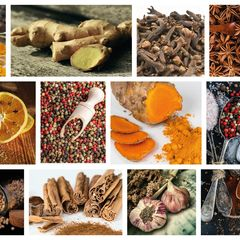 Spices - Collage Postcard