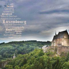 Greetings from Luxembourg - Szófelhős képeslap