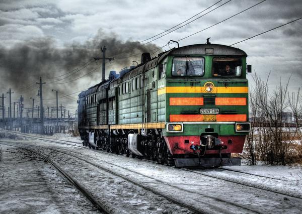 Locomotive postcard ve104 01 01