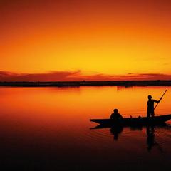 """Fishermen"" Postcard"