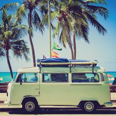 """""""VW Camper"""" Postcard"""