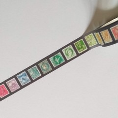 Colorful Old Stamps - Washi tape