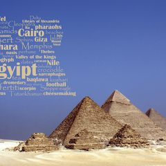 Greetings from Egypt - Word Cloud Postcard