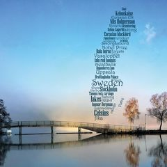 Greetings from Sweden - Word Cloud Postcard