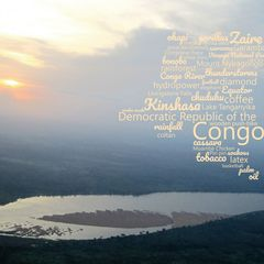 Greetings from D.R.Congo - Word Cloud Postcard