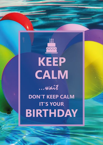 Keep calm birthday postcard ke114c