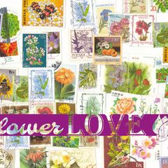 Flower LOVE - Stamp Postcard