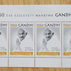 Gandhi - Hungarian Stamp Mini Sheet