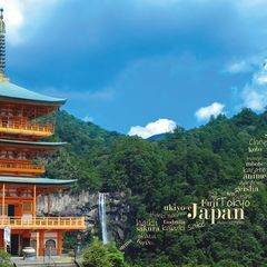 Greetings from Japan - Word Cloud Postcard