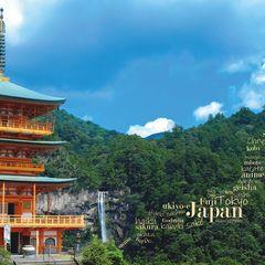 Greetings from Japan - Word Cloud Postcard