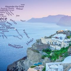 Greetings from Greece - Word Cloud Postcard