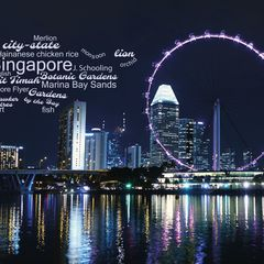 Greetings from Singapore - Word Cloud Postcard