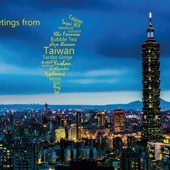 Greetings from Taiwan - Word Cloud Postcard