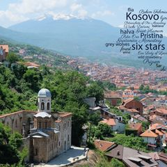 Greetings from Kosovo - Word Cloud Postcard