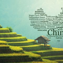 Greetings from China - Wordcloud Postcard