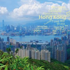 Greetings from Hong Kong - Word Cloud Postcard
