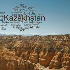 Greetings from Kazakhstan - Word Cloud Postcard