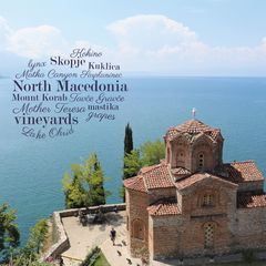 Greetings from North-Macedonia - Word Cloud Postcard
