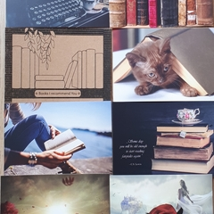 Books - 8 pcs Postcards Bundle