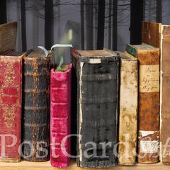 Régi könyvek képeslap