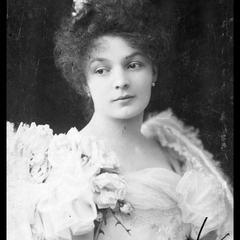 Vintage hölgy képeslap