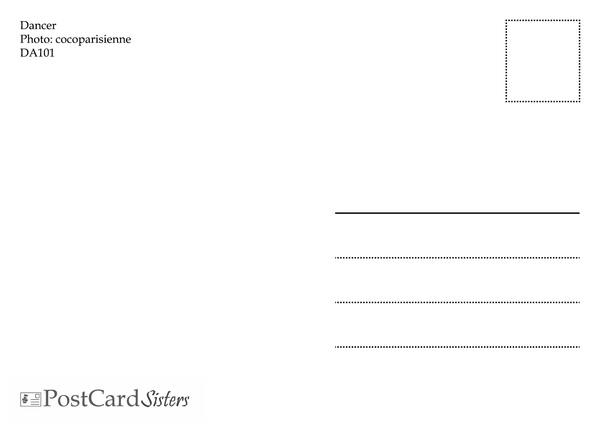 Ballet  dance postcard da101 02
