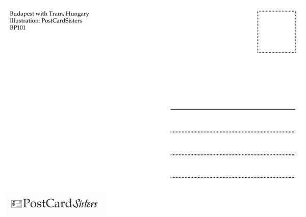 Tram budapest postcard bp101 02