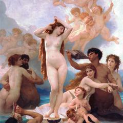 Geburt der Venus Postkarte