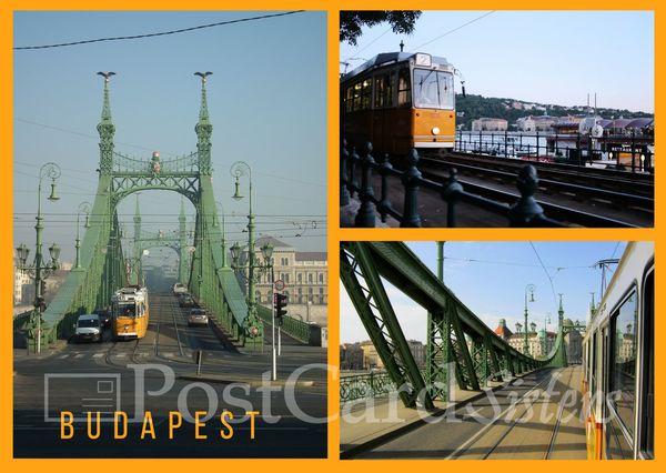 Tram budapest postcard bp101w 01c