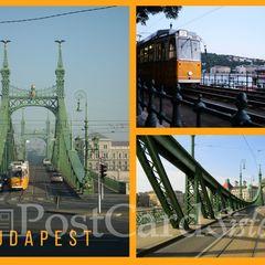 Budapest mit der Straßenbahn - Postkarte