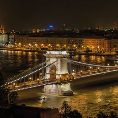 Kettenbrücke, Budapest Postkarte