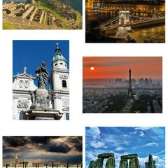 6 pcs Postcard Bundle - UNESCO World Heritage Sites