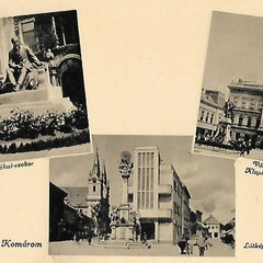 Komárom old postcard