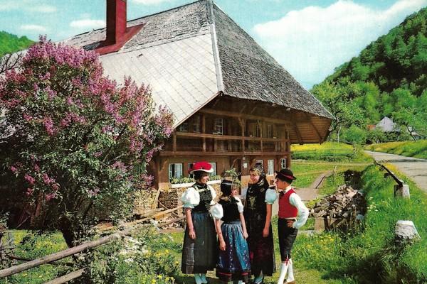 Freilichtmuseum vogtsbauernhof schwarzwald old postcard old05