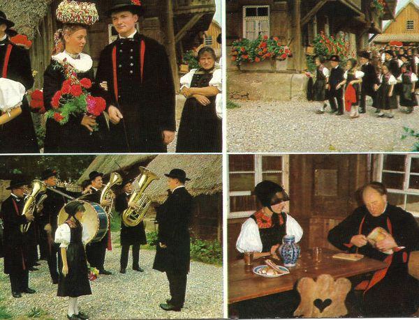 Schwarzwald germany old postcard old09c