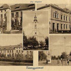 Füzesgyarmat old postcard