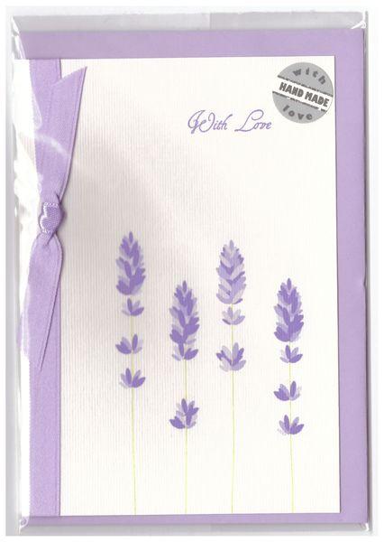 Pramoncard postcard lavender purplec