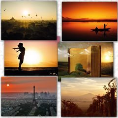 Sunset - 6 pcs Postcards Bundle