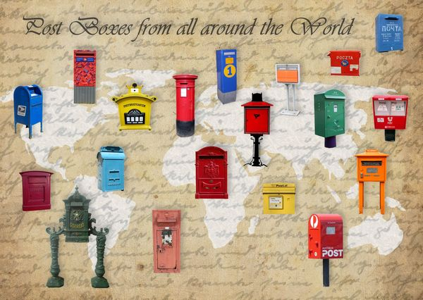 Post boxes from all around the world postcardsisters ps112c
