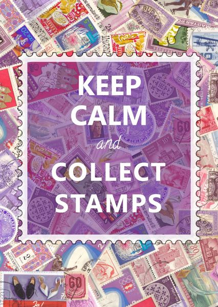 Keep calm collect stamps postcardsisters ps115c