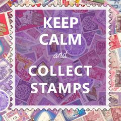 """Keep Calm & Collect Stamps"" Postcard"