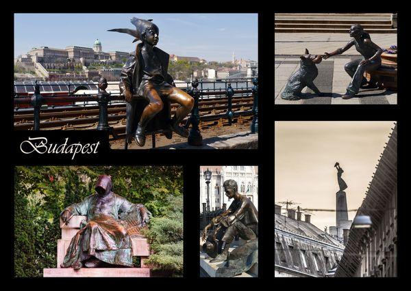 Budapest szobor kepeslap postcardsisters bp107c