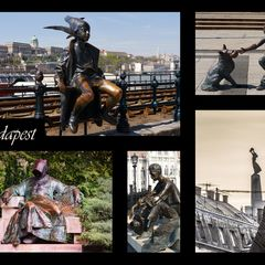 """Sculptures of Budapest"" Postcard"