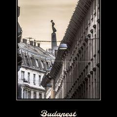 """""""Die Freiheitsstatue von Budapest"""" Postkarte"""